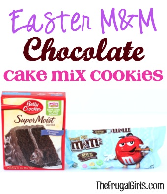 Easter M&M Cake Mix Cookie Recipe from TheFrugalGirls.com