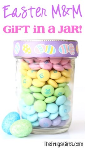 Easter M&M Gift in a Jar from TheFrugalGirls.com