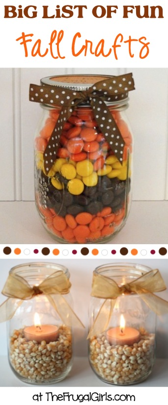 BIG List of Fun Fall Crafts at TheFrugalGirls.com