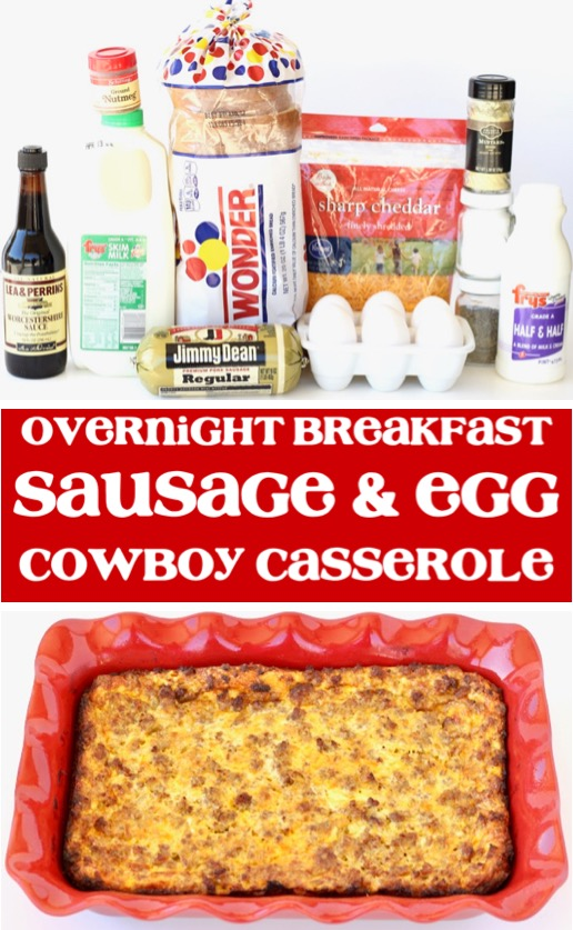 Breakfast Casserole Recipes Make Ahead Sausage and Egg Cowboy Casserole Recipe