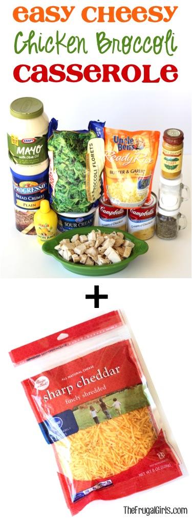 Chicken Cheese Broccoli Casserole Recipe from TheFrugalGirls.com