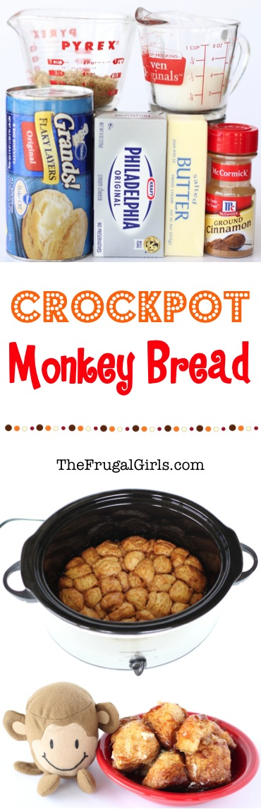 Crockpot Monkey Bread Recipe - at TheFrugalGirls.com