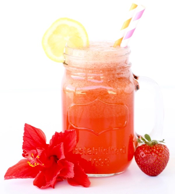 Strawberry Lemonade Punch Recipe from TheFrugalGirls.com