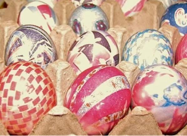 Silk Tie Easter Eggs Easy