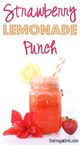 Strawberry Lemonade Punch Recipe from TheFrugalGirls.com