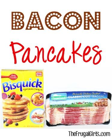 Bacon Pancake Recipe from TheFrugalGirls.com