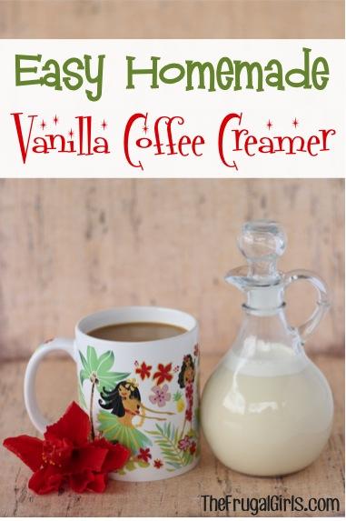 Easy Homemade Vanilla Coffee Creamer Recipe - from TheFrugalGirls.com