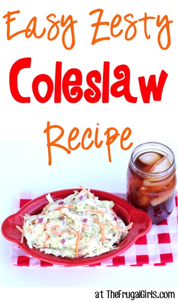 Easy Zesty Coleslaw Recipe at TheFrugalGirls.com