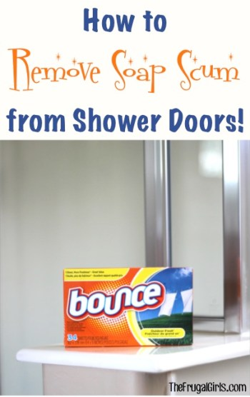 How to Remove Soap Scum from Shower Doors at TheFrugalGirls.com