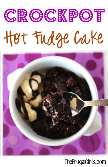 Slow Cooker Hot Fudge Cake Recipe from TheFrugalGirls.com
