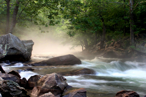 Smoky Mountains Nantahala Falls - Travel Tips at TheFrugalGirls.com