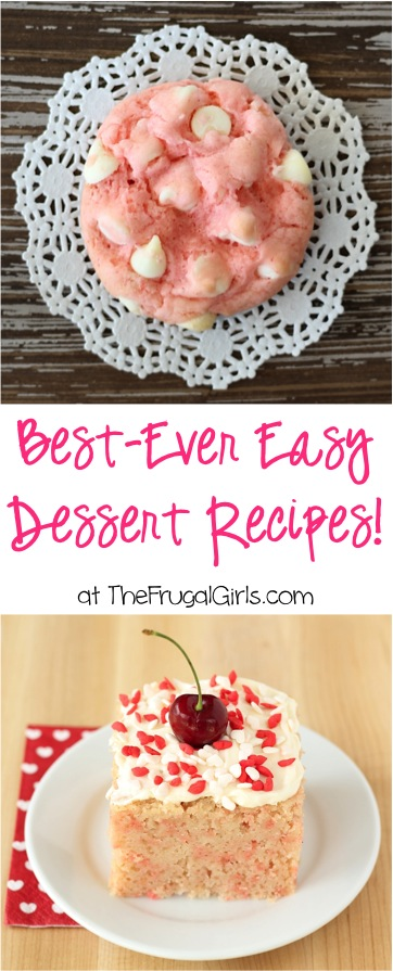 Delicious Dessert Recipes from TheFrugalGirls.com