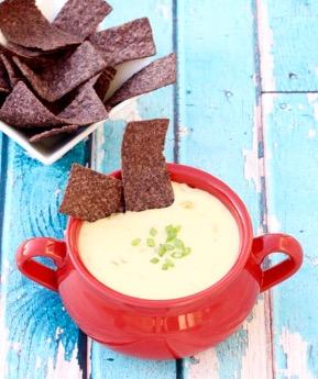 Crockpot Green Chile Queso Recipe at TheFrugalGirls.com