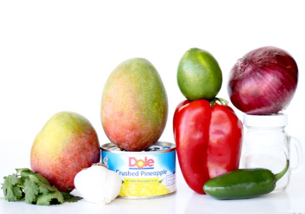 Fresh Mango Pineapple Salsa Recipe from TheFrugalGirls.com
