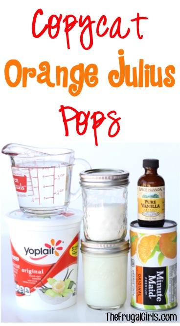 Copycat Orange Julius Pops Recipe at TheFrugalGirls.com