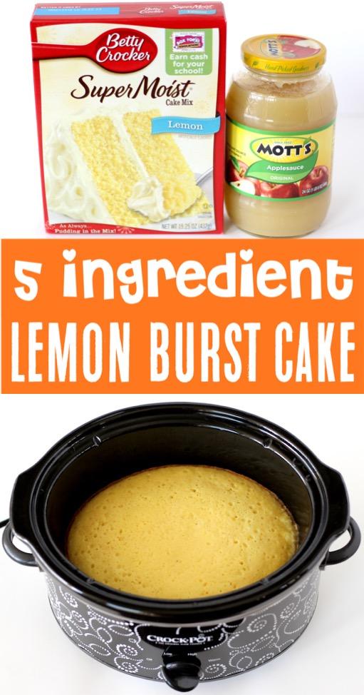 Lemon Cake Mix Recipe Using Cake Mix Boxes - Easy