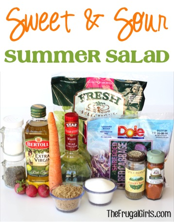 Sweet and Sour Salad Recipe at TheFrugalGirls.com