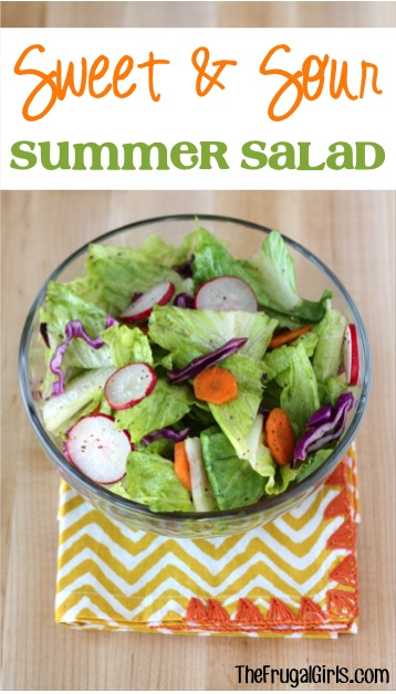 Sweet and Sour Salad Recipe from TheFrugalGirls.com
