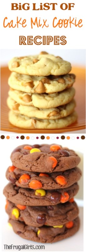 BIG List of Cake Mix Cookie Recipes from TheFrugalGirls.com