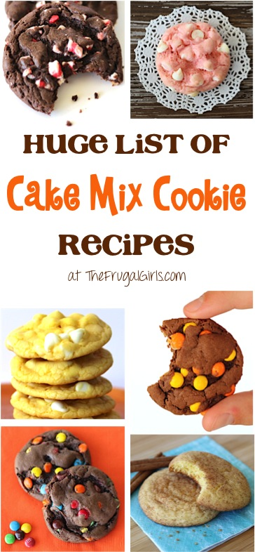 Cake Mix Cookies Recipes at TheFrugalGirls.com