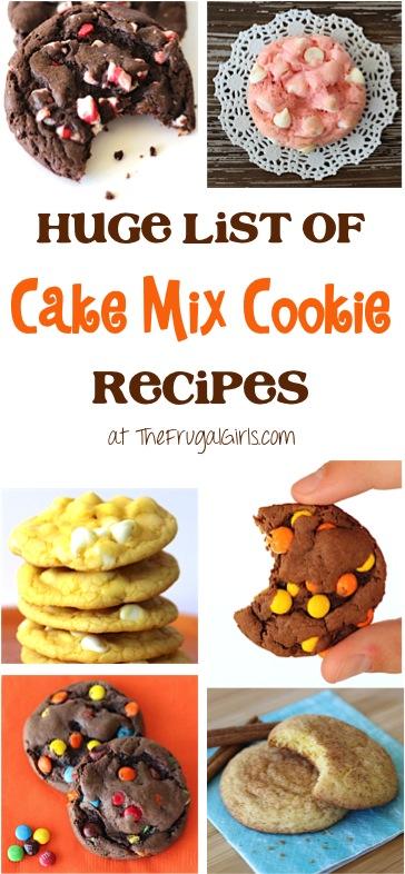 Cake Mix Cookies Recipes at TheFrugalGirls.com
