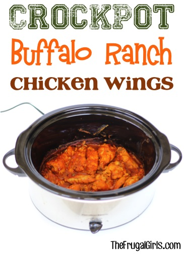 Crockpot Buffalo Ranch Chicken Wings Recipe from TheFrugalGirls.com