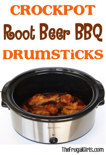 Crockpot Root Beer Barbecue Drumsticks Recipe from TheFrugalGirls.com