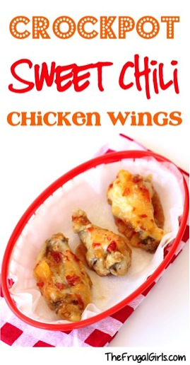 Crockpot Sweet Chili Chicken Wings Recipe