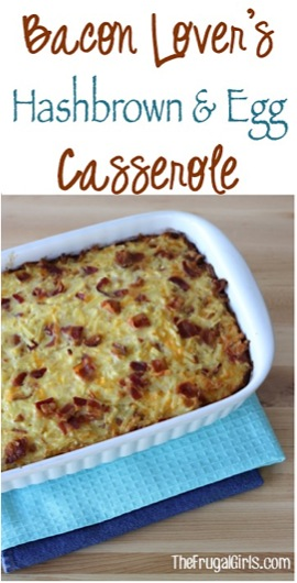 Bacon Lover's Hashbrown and Egg Casserole Recipe