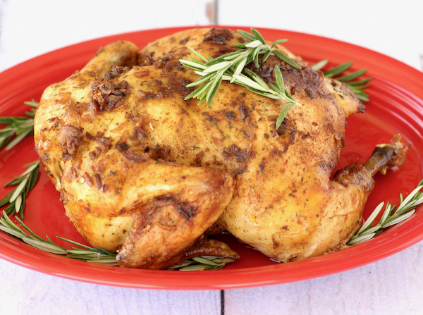 Crock Pot Whole Roasted Chicken