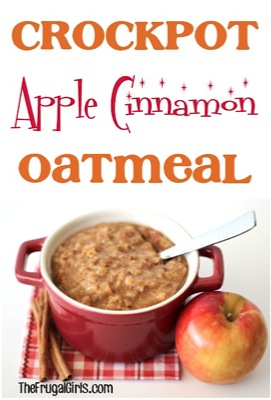 Crockpot Apple Cinnamon Oatmeal Recipe
