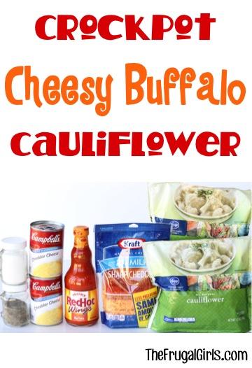 Crockpot Buffalo Cauliflower Recipe - from TheFrugalGirls.com