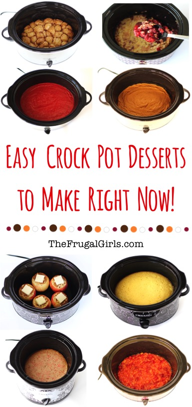 Crockpot Dessert Recipes from TheFrugalGirls.com
