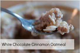 White Chocolate Cinnamon Oatmeal