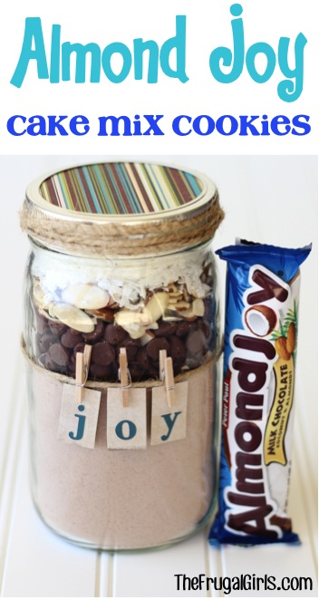 Almond Joy Cookie Mix in a Jar