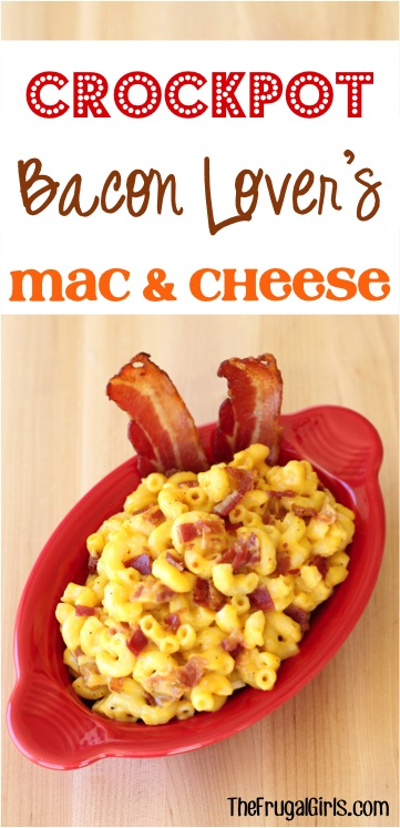 Crockpot Bacon Macaroni and Cheese Recipe from TheFrugalGirls.com