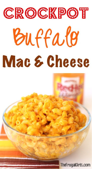 Crockpot Buffalo Macaroni and Cheese Recipe from TheFrugalGirls.com