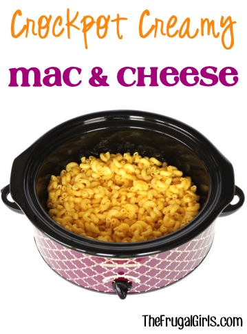 Crockpot Macaroni and Cheese Recipe from TheFrugalGirls.com