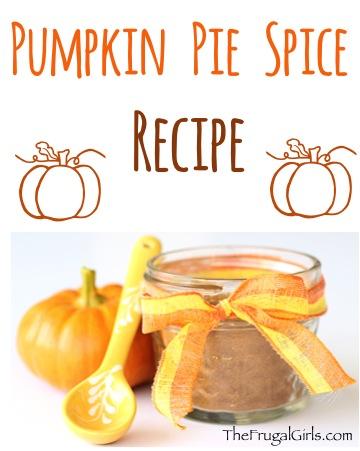 Pumpkin Pie Spice Recipe - at TheFrugalGirls.com