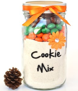 Pumpkin Spice M&M Cookie Mix in a Jar