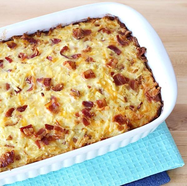 Bacon Hash Brown Egg Casserole Recipe