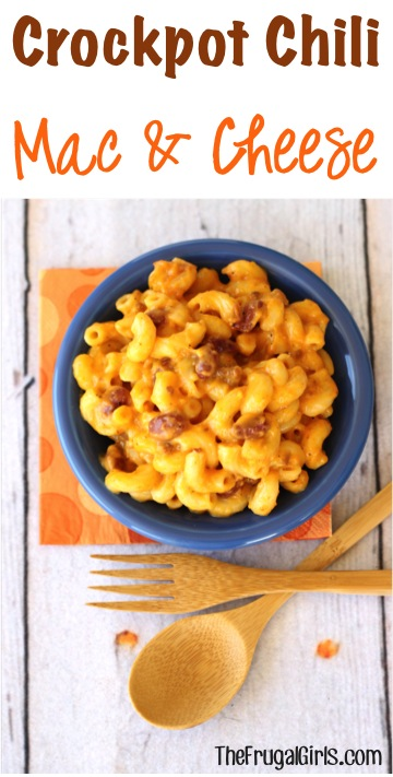 Crockpot Chili Mac and Cheese Recipe from TheFrugalGirls.com