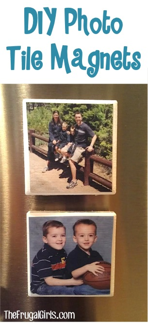 DIY Photo Tile Magnets from TheFrugalGirls.com