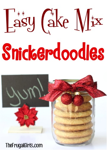 Easy Cake Mix Cookie Snickerdoodle Recipe from TheFrugalGirls.com