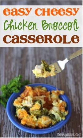 Easy Cheesy Chicken Broccoli Casserole Recipe