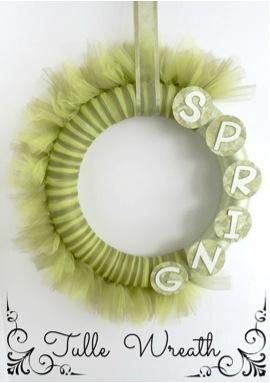 Easy Spring Tulle Wreath Tutorial