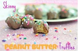 Skinny Peanut Butter Truffles Recipe