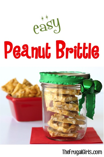 Easy Peanut Brittle Gift in a Jar from TheFrugalGirls.com