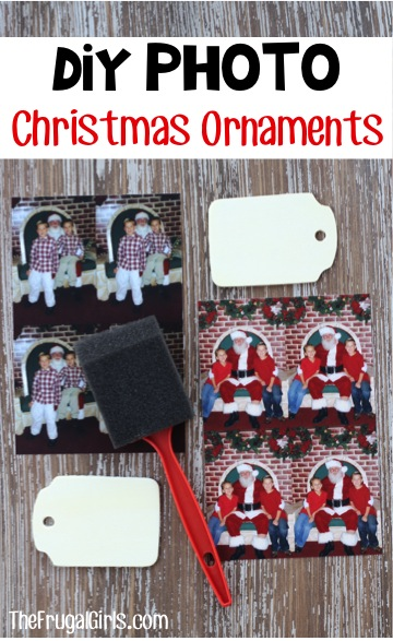 Homemade Photo Christmas Ornaments from TheFrugalGirls.com