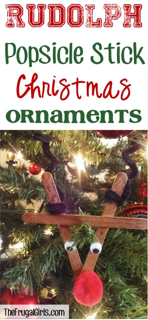 Popsicle Stick Ornaments from TheFrugalGirls.com